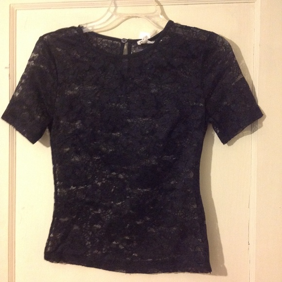 SEEK Black lace top